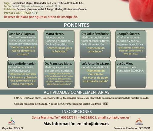 datos congreso alimentacion consciente y macrobiotica
