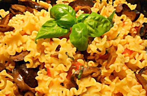 plato de pasta macrobiótica
