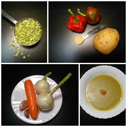 montaje sopa macrobiotica guisantes