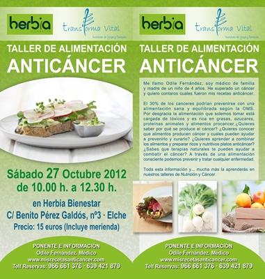 taller anticancer y macrobiótica