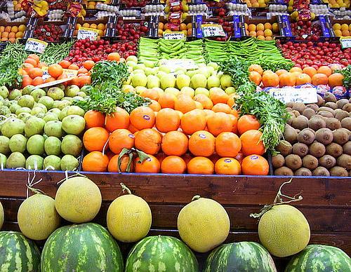 Frutas y verduras en macrobiótica