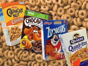 Cereales azucarados no macrobióticos