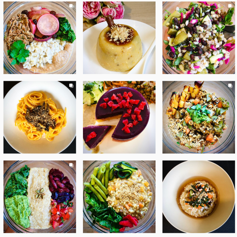 Muestra de la cuenta Instagram de Easy Macrobiotics
